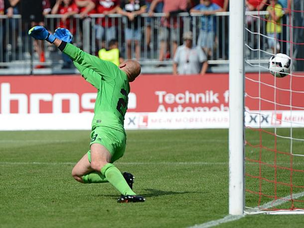 Apart from the goal, Wylnikowski had a good game for Würzburg. | Photo: Kicker/Getty