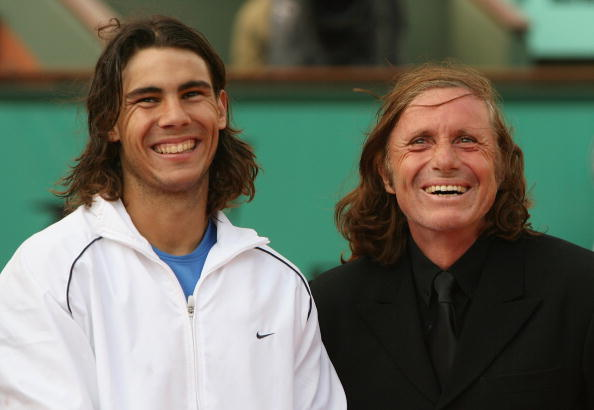Vilas with Rafael Nadal at the 2006 French Open (Image: Clive Brunskill)