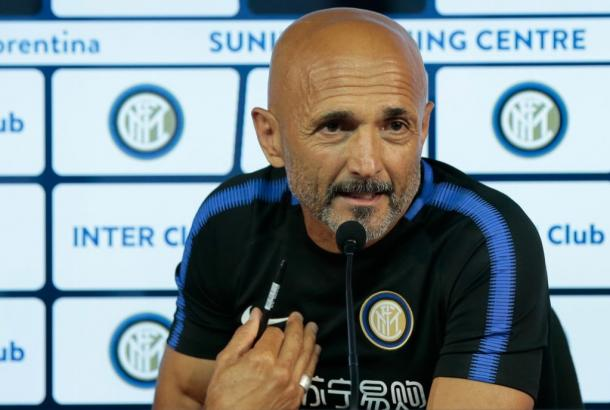 Spalletti atiende a los medios. / Foto: inter.it