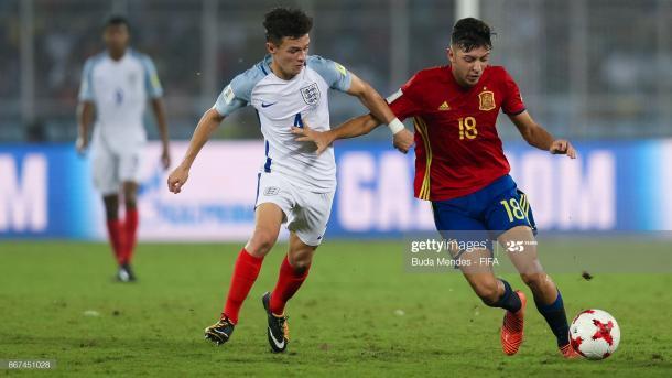 César Gelabert, durante el Europeo Sub-17 celebrado en Croacia | Fuente: Getty Images