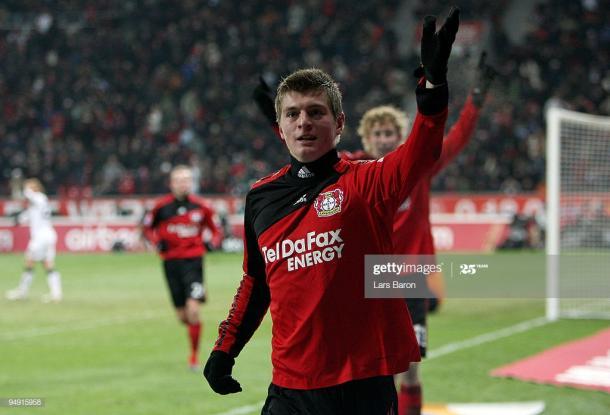 Toni Kroos con el Bayer Leverkusen   Fuente: Getty