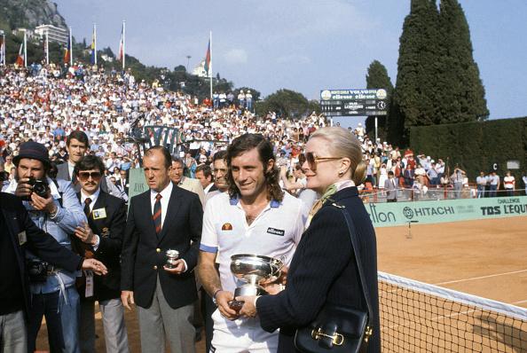 Princess Grace of Monaco presented Vilas with the Monte Carlo title in 1982 (Image: Patrick Siccoli)