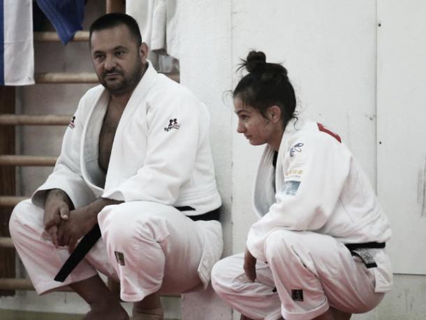 Kemendi with her coach, Driton Kuka l Photo (BBC.co.uk)