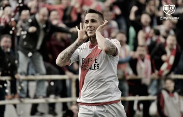 Óscar Trejo celebrando su gol | Imagen: www.rayovallecano.es