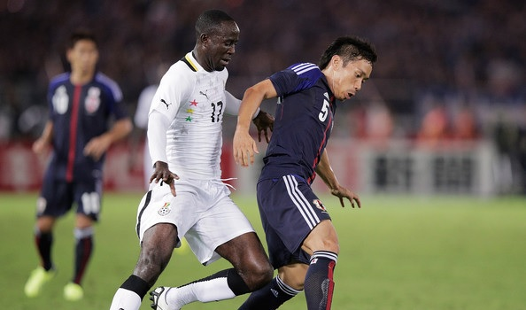Adomah in international friendly action for Ghana against Japan | Photo: Adam Pretty/Getty Images