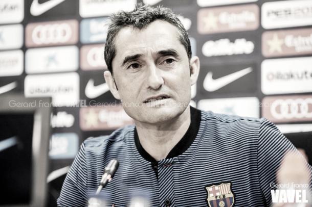 Valverde en rueda de prensa | Foto: Gerard Franco, VAVEL