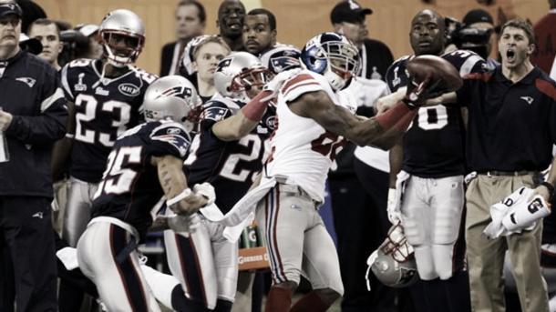 Super Bowl XLVI, segunda derrota ante los Giants. Foto: Giants