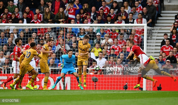Ben Gibson scored Boro's consellation goal as they lost 2-1 to Spurs in the most recent Riverside match | Photo: Getty