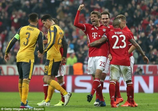 Gibbs ejerció de capitán durante casi toda la segunda mitad | Foto: Getty Images (FC Bayern)