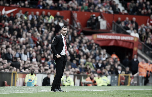 Giggs overseeing proceedings at Old Trafford in his temporary stint (Photo: Andrew Yates / Getty Images)