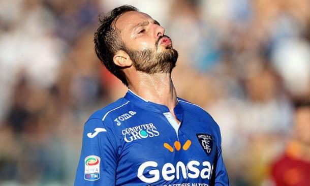 Vano il primo gol in maglia Empoli per Alberto Gilardino - Foto Getty Images