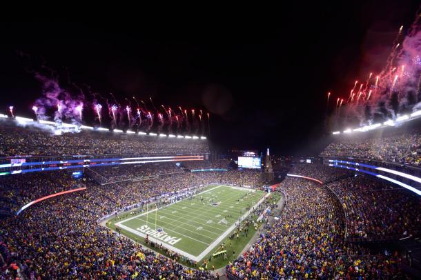 Gillette Stadium durante la presentación de los jugadores. Fuente: NFL
