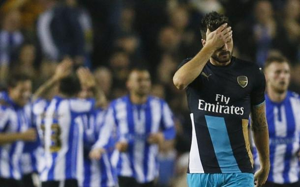 A 3-0 defeat to Sheffield Wednesday this season was just one of many nightmares Arsenal have endured in the League Cup under Arsene Wenger. (Photo: Telegraph)