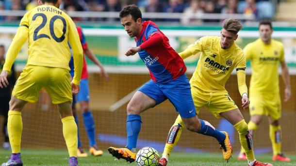 Rossi in action against former employers Villarreal | Photo: SkySports.com