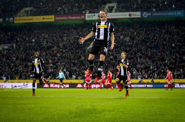 Gladbach sai vitorioso de partida contra o Bayern por 2 a 1 (Reprodução/Borussia Mönchegladbach)