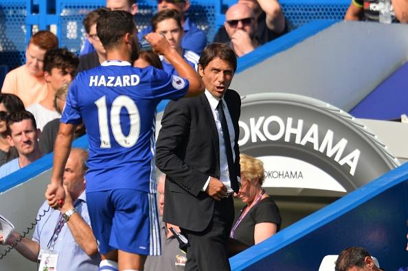 Hazard tem rendido bastante sob o comando de Conte   Foto: Glyn Kirk/AFP/Getty Images