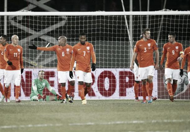 Players such as Arjen Robben and Robin van Persie were unable to help Netherlands qualify for Euro 2016. (Photo: Goal.com)