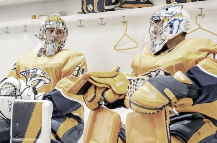 Pekka Rinne (izq) y Juuse saros (der) | Foto: predlines.com