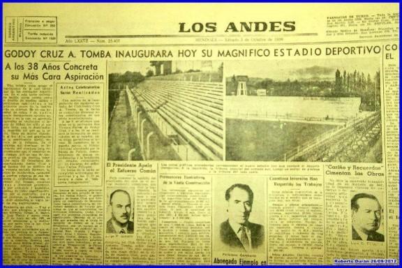 Así reflejaba el diario de la época la inauguración del Gambarte. Foto: Roberto Durán.