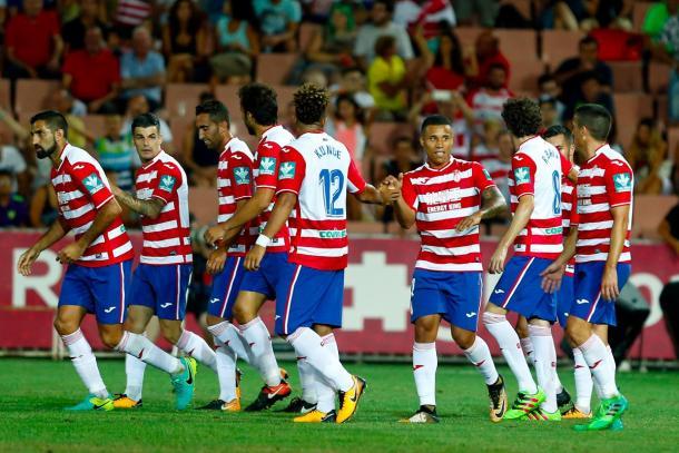 Celebración del gol de Joselu | Foto: Pepe Villoslada