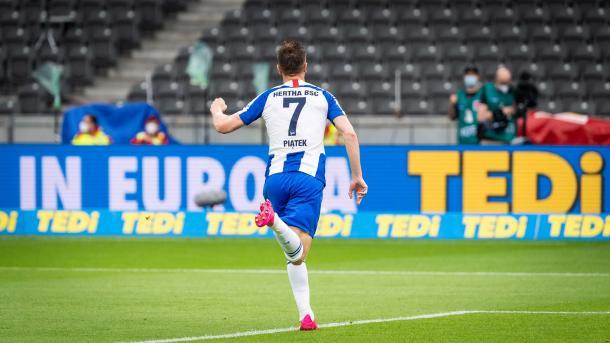 Polonês chegou a quatro gols na Bundesliga (Foto: Divulgação/Hertha Berlin)