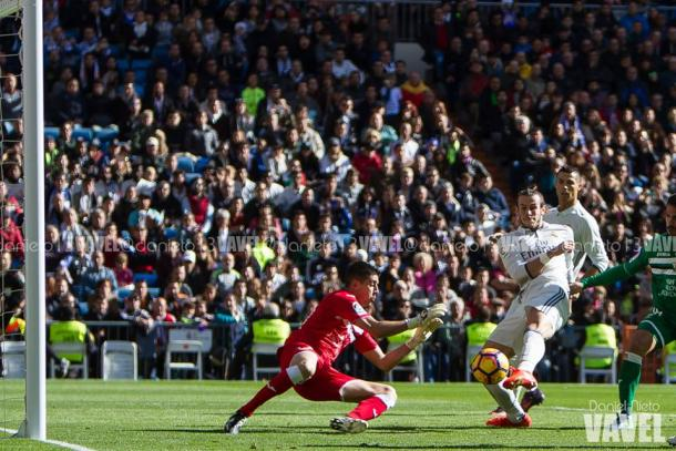 Segundo gol de Bale ante el Leganes. | FOTO: Daniel Nieto - VAVEL España