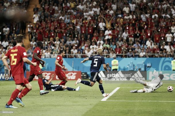 Chadli culmina el contragolpe perfecto para meter a Bélgica en cuartos / Fuente: Getty Images