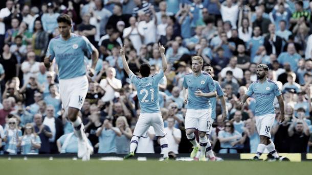 David Silva comienza el festival./ Foto: Premier League