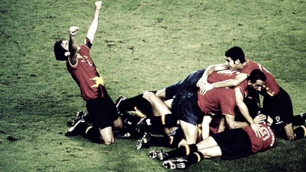 Gol de Abelardo en la final olímpica Fotografía: http://media4.fcbarcelona.com