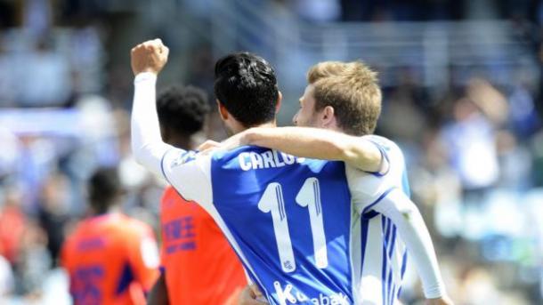 Carlos Vela celebra su gol al Granada | Foto: La Liga