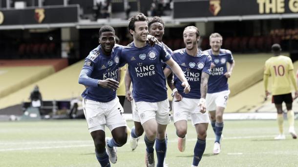Gol de Chilwell./ Foto: Premier League