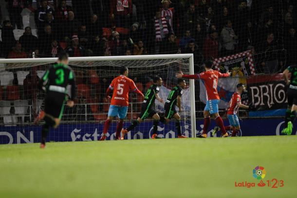 Machís celebra su gol al Lugo | Foto: La Liga