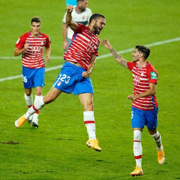 Jorge Molina celebra su gol | Foto: Pepe Villoslada / GCF