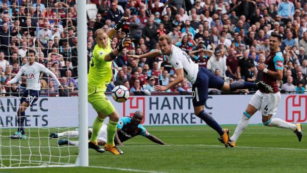 Kane anotó un doblete en el último encuentro en Premier entre ambos | Fotografía: Premier League