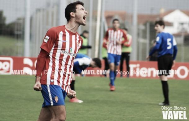Claudio Medina celebrando un gol con rabia. | Imagen: Diego Blanco-VAVEL.