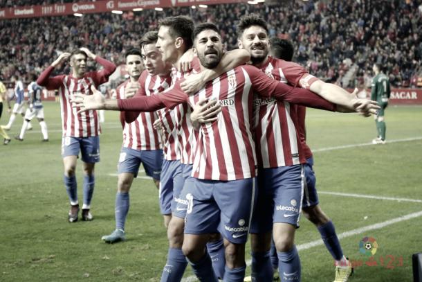 Carmona celebra su gol ante el Tenerife // Imagen: LaLiga