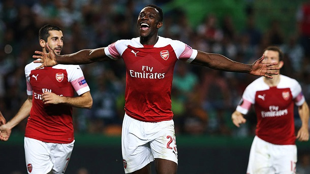Welbeck celebra su gol ante el Sporting de Portugal | Fotografía: Arsenal