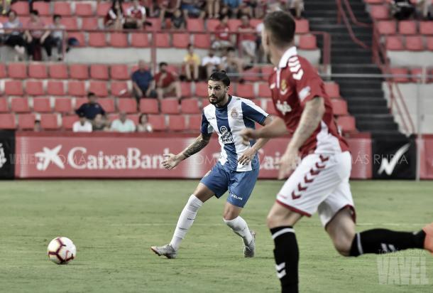 Gonzalo Ávila en el partido de pretemporada ante el Nástic. Foto: Vavel (Tomas Rubia)