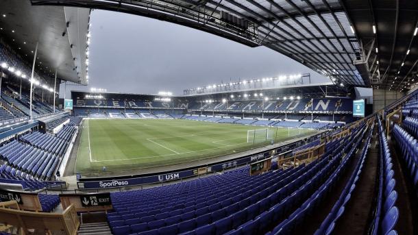 Goodison Park albergará el primer derbi de la temporada./ Foto: Premier League