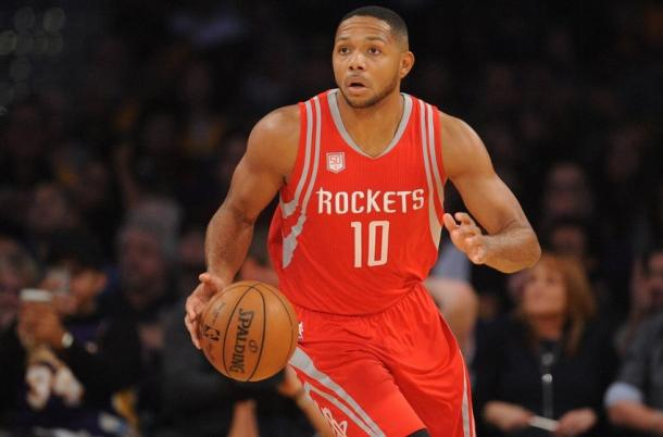 With his offensive skills set and performance with the Houston Rockets, Eric Gordon looks to be the Sixth Man of the Year. Photo: Gary A. Vasquez-USA TODAY Sports