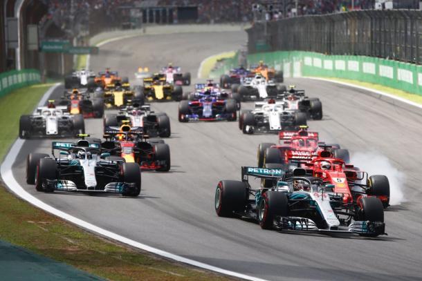 La partenza del GP | twitter - @F1