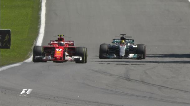 Raikkonen tiene dietro Hamilton | twitter
