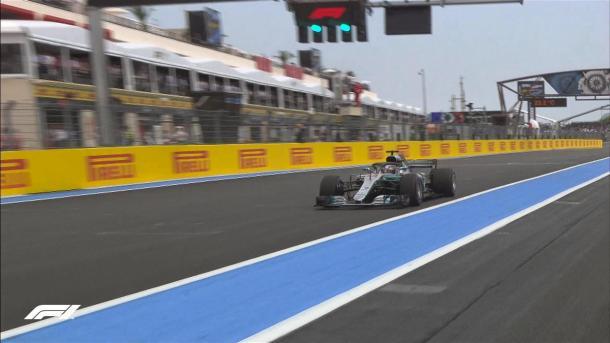 Hamilton conclude il giro decisivo | twitter - @f1