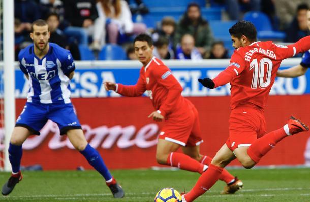 El Sevilla cayó derrotado en Mendizorroza   FOTO: Sevilla FC