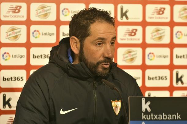 Pablo Machín en rueda de prensa | Foto. Sevilla FC