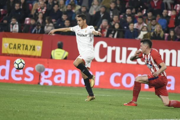 Ben Yedder en el último encuentro contra los colchoneros | Foto: Sevilla FC