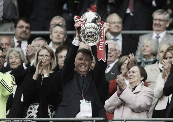 Louis van Gaal guided United to FA Cup success on Saturday | Photo: Graham Chadwick.Daily Mail