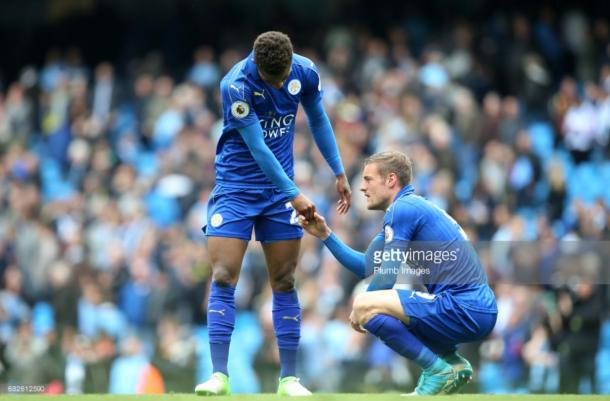Demarai Gray and Jamie Vardy could both use their considerable pace yet again next season | Photo: Getty/ Plumb Images