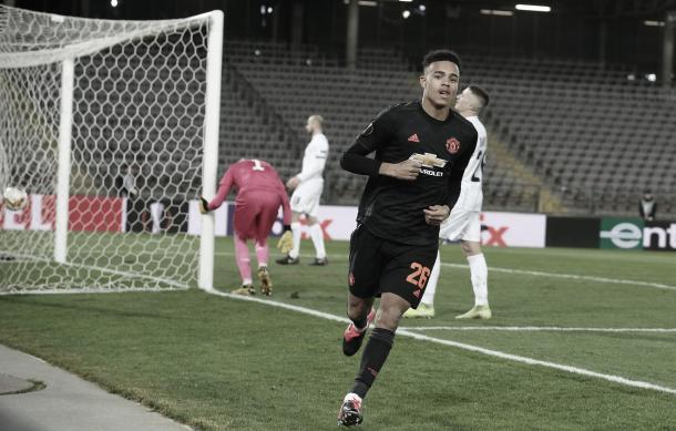 Gol de Greenwood./ Foto: Europa League