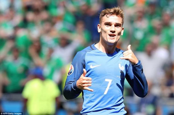 Griezmann's brace ensured progression to the last eight (photo; Getty Images)